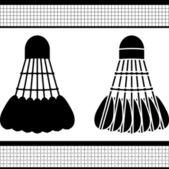 Badminton shuttlecock — Stock Vector