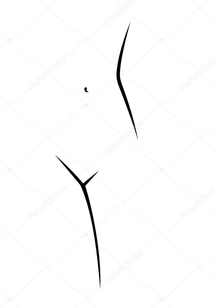 схемы тела женщины в
