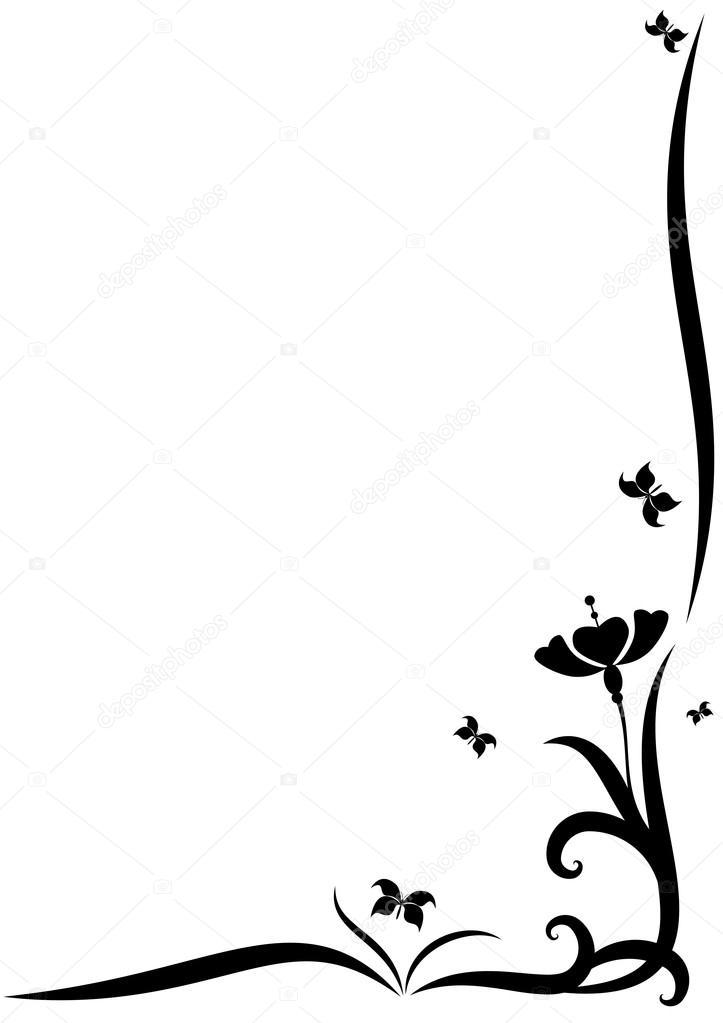 Flower Corner Vector Designs images