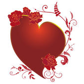Heart and rose, frame — Vecteur