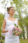 Beautiful russian young bride — Stock Photo