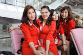 Airasia crew members — Stock Photo