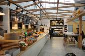 Airport cafe interior — Stock Photo