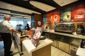 McDonald's interior  in Orly airport — Stock Photo