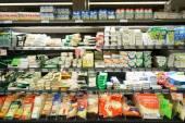 Leader Price supermarket interior — 图库照片