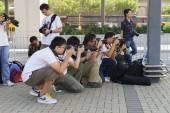 Photographers taking photos — Stock Photo