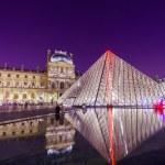 Louvre Palace and Pyramid — Stock Photo #63301051