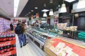 Supermarket interior in Venice — Stock Photo