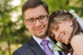 Wedding couple portrait — Stock Photo