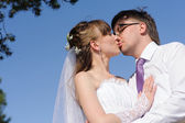Wedding portrait in the park — Stock Photo
