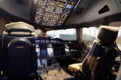 Aircraft cockpit interior — Stock Photo