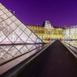 The Louvre Palace and the Pyramid — Stock Photo #68678691