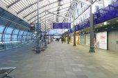 Airport interior in Schkeuditz — Stock Photo