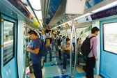 Dubai metro car interior — Stock Photo