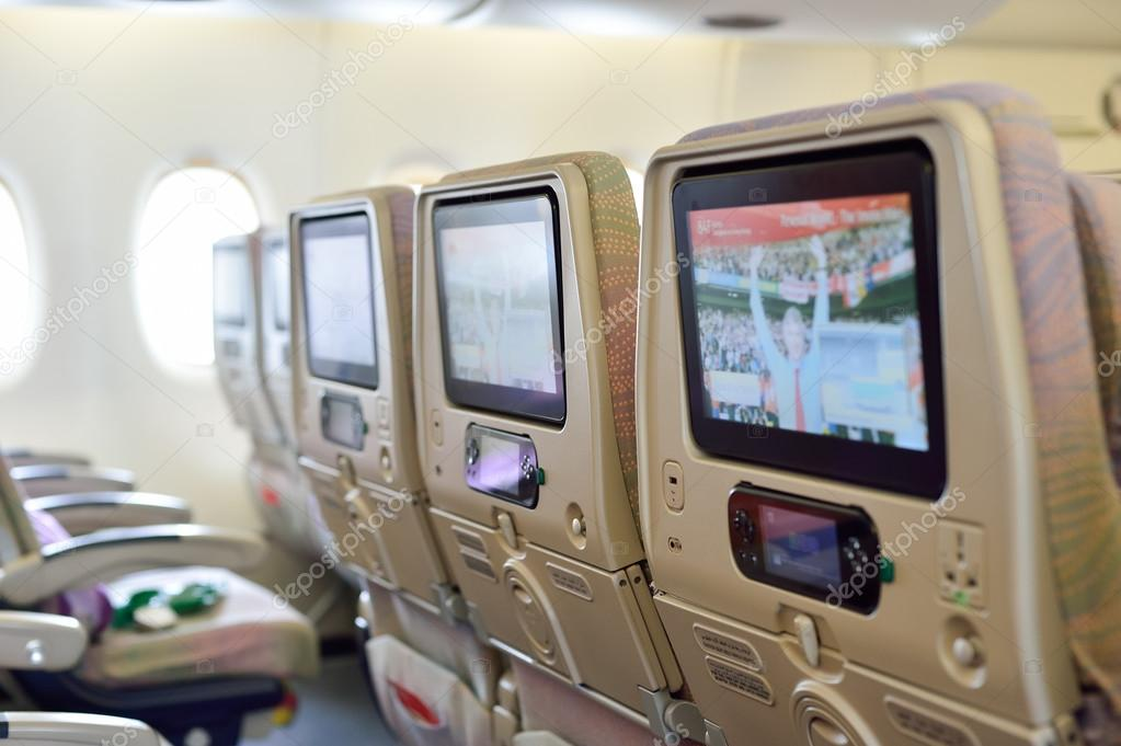 Emiraten airbus a380 vliegtuigen interieur redactionele for Interieur airbus a380