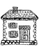 Old European house — Stock Vector
