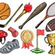 Sport objects — Stock Vector #52458373