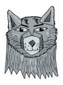 Portrait of wolf — Stock Vector
