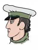 Ostap Bender, fictional literary character — Stock Vector