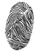 Fingerprint — Vettoriale Stock