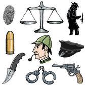 Detective — Stok Vektör