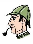 Sherlock Holmes — Stock Vector