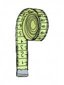 Ruban à mesurer — Vecteur