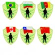 Army of China,Chile,Canada,Cameroon,Bulgaria,Brazil — Stock Vector #56133645