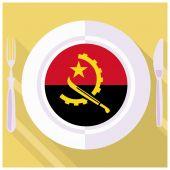 Kitchen of Angola — Stock Vector