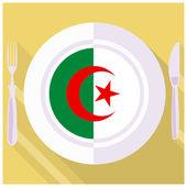 Kitchen of Algeria — Stock Vector