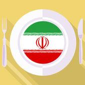 Cocina de Irán — Vector de stock