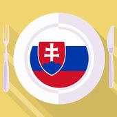 Die Küche der Slowakei — Stockvektor