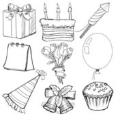 Objects for celebration — Stock Vector