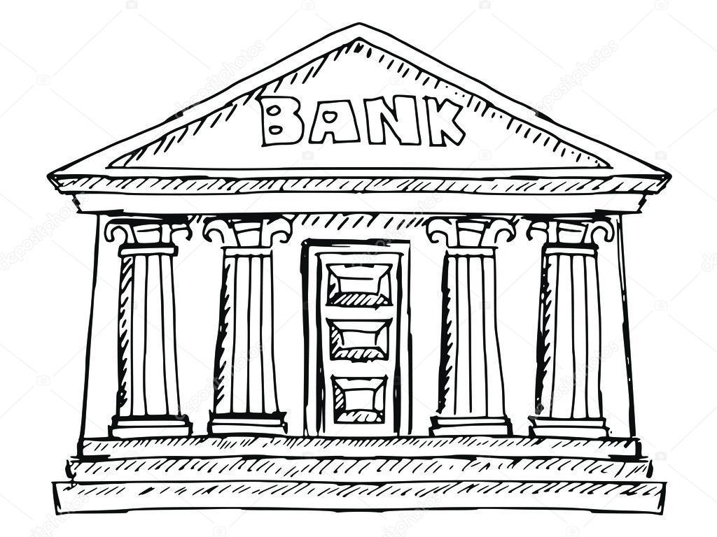 Bank Building Drawing Www Pixshark Com Images