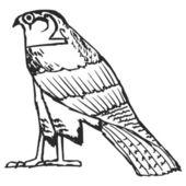 Falcon, ancient Egyptian symbol — Stock Vector