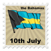 National day of Bahamas — Stock Vector