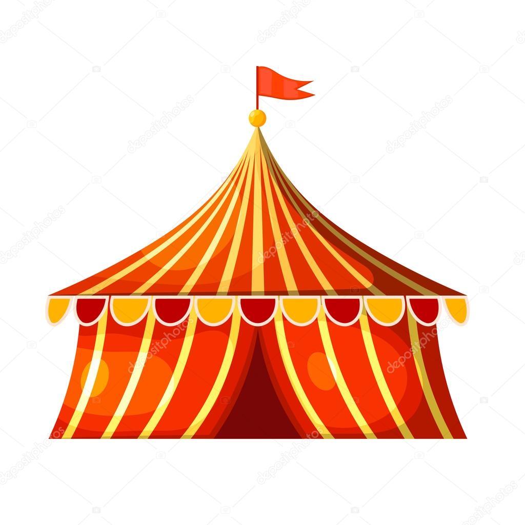 Cartoon circus marquee tent. Vector illustration — Stock ...
