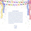 Festive garland, confetti, streamers isolated on white backgroun — Stock Photo #52317091