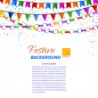 Festive garland, streamers and flags isolated on a white backgro — Stock Photo #52317095