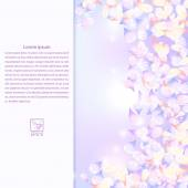 Lilac texture with rose purple flowers and field for text. Vecto — Stock Photo