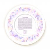 Papel redondo con textura de apliques de flores sobre fondo blanco. View — Foto de Stock