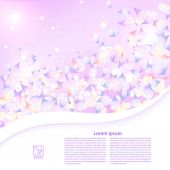 Abstract purple floral background with a field for the text. Vec — Stock Photo