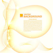Abstract light golden background with flares. Vector illustratio — Stock Photo