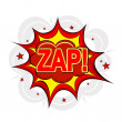 Cartoon ZAP! on a white background. Vector illustration. — Stock Vector #54979659