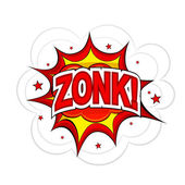 Cartoon ZONK! on a white background. Vector illustration. — Stock Vector