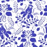 Blue seamless pattern. Flowers Gzhel. Vector illustration. — Stock Vector #56618737