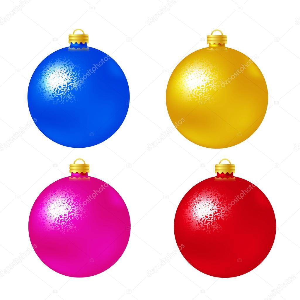 Set bolas navidad sobre fondo blanco ilustraci n de for Bolas de navidad baratas