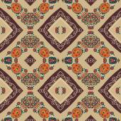 Floral seamless pattern in tribal style. Ethno. Vector illustrat — Vecteur