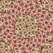 Seamless background from a floral ornament rozovymm tribal style — Vector de stock