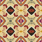 Seamless ethnic African geometric pattern. Tribal painting. Sam — Stock Vector